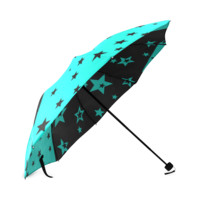 Aqua Stars Foldable Umbrella | ID: D261641