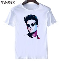 bruno mars T-shirt Fashion casual summer T SHIRT DJ Male & Famale Tees short sleeve Free shipping