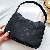 LV Fashion New Monogram Print Shoulder Bag Handbag Black