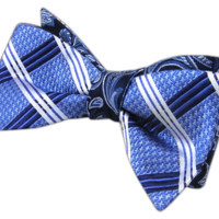 Organic Houndstooth - Navy/Blue (Reversible Bow Ties) - Wear Your Good Tie. Every Day