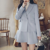 Light Blue Coat with Skirt