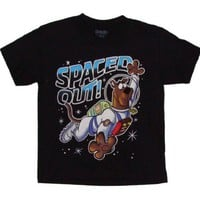 Scooby Doo Spaced Out! Boys T-shirt (L (7), Black)