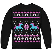 Unicorn Rainbow Ugly Christmas Sweater Youth Sweatshirt