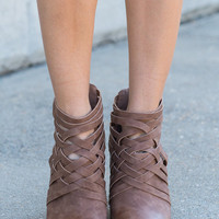 Strap Legend Booties, Camel