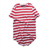 ANDIMOTO Extended Stripe Shirt