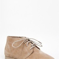 NEW Breckelle's Women Lace Up Oxford Desert Ankle Boot Booty Beige Taupe Sandy41