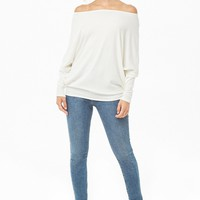 Relaxed Off-the-Shoulder Dolman Top