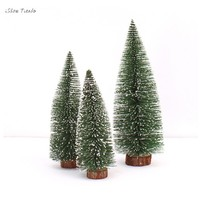 ISHOWTIENDA 10CM/15CM/20CM/25CM/30CM Mini Christmas Tree Stick White Cedar Desktop Small Christmas Tree  Mini Christmas tree