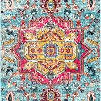nuLoom Clorinda Tribal Medallion Area Rug