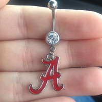 Alabama Crimson Tide Belly Ring