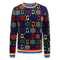 GUCCI GG men's and women's knitted g letter round neck long-sleeved sweater