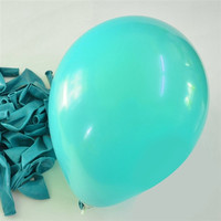 Latex Solid Balloons, 12-inch, 12-Piece, Turquoise