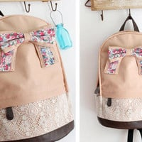 Silk bag with bow tie [139]