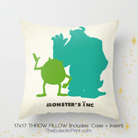 Disney Pixar's Monster's Inc Art on a 17x17 by TheEclecticPrint