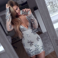 ♡ Long sleeve Sequined Dresses Holiday ♡
