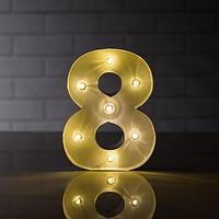 BLOWOUT Marquee Light Number '8' LED Metal Sign (8 Inch, Battery Operated)