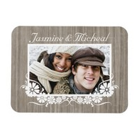 Grey Barnwood Custom Photo Flexi Magnet