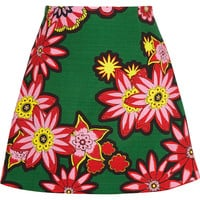 House of Holland - Dolly floral-print woven cotton mini skirt
