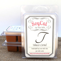 Tobacco Carmel - Soy Wax Melts - scented candle - candle wax melts - wax melt warmer - candle scents - organic soy wax - man candle
