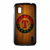 Texas Rangers Wood Pattern Nexus 4 Case
