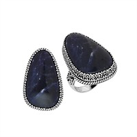 AR-9028-SJ-7'' Sterling Silver Ring With Sodalite