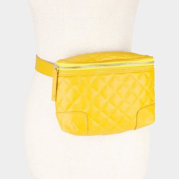 Leather Square Stitch Fanny Pack (Click For More Colors)