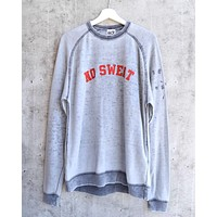 Sub_Urban Riot - No Sweat Burnout Wash Unisex Sweatshirt in Slate Grey