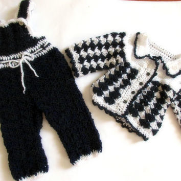 Crochet Baby Overall And Sweater Baby Boy From Paintcrochet My
