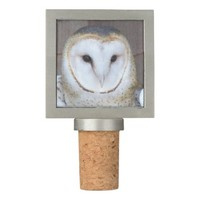 Barn Owl Photo Wine Stopper