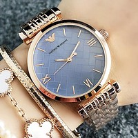 Armani Fashion New Personality Dial Women Men Leisure Watch Wristwatch