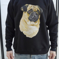 Pug Dog jumper, Pug sweatshirt, Pug sweater, Pugs, Pug Top, Dog sweatshirt, Dog sweater, Animal lovers, Unisex, Dogs, Animal, Pets, New