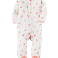Fox Zip-Up Cotton Sleep & Play