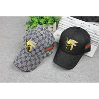 The lady bees big bend embroidery pattern peaked cap brim hat