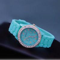 Mint Color Silicone Watch 05 from AsbestosAccessories