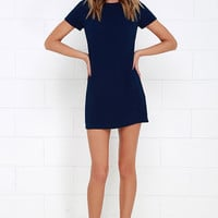 Shift and Shout Navy Blue Shift Dress