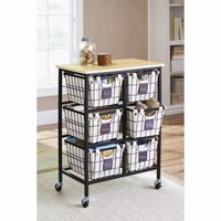 Better Homes and Gardens 6-Drawer Wire Cart, Black - Walmart.com