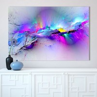 CHENFART Wall Art Canvas Painting Abstract Unreal Pink Cloud Landscape Pictures For Living Room Home Decor No Frame