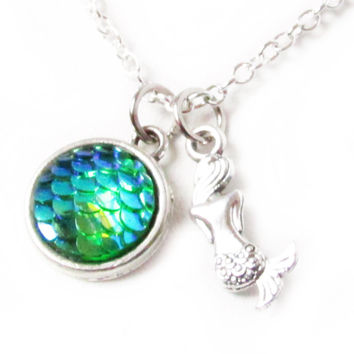 Mermaid Anklet with Fish Scale Pendant