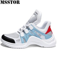 MSSTOR Women Men Running Shoes Summer Breathable Mesh Womens Sport Shoes Man Brand Outdoor Athletic Ladies Mens Sneakers 36-45