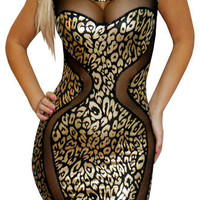 Secular (Black/Gold)-Great Glam is the web's top online shop for trendy clubbin styles, fashionable party dress and bar wear, super hot clubbing clothing, stylish going out shirt, partying clothes, super cute and sexy club fashions, halter and tube tops,