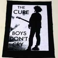 THE CURE boys dont cry patch goth gothic punk Free Shipping