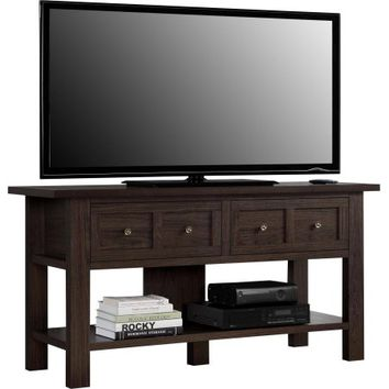 """Apothecary Cherry TV Stand/Console Table for TVs up to 55"""" - Walmart.com"""