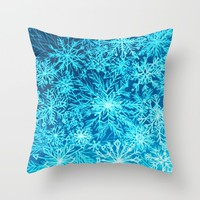 Snowflakes Throw Pillow by RokinRonda