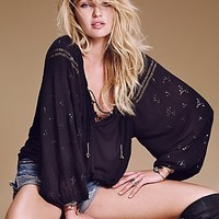 Free People Womens Golden Nugget Top