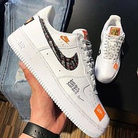 Samplefine2 Nike Air Force 1 AF1 Just Do It JDI Fashion Women Men Casual Sport Shoes Sneakers