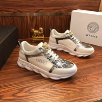 Versace Chain Reaction Sneakers White/silver