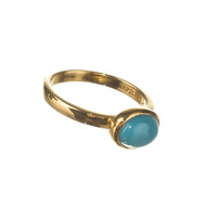 Jane Austen's Replica Turquoise Ring - Gold