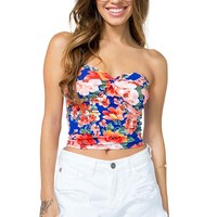 Floral Bustier Tube Top
