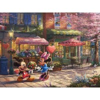 Thomas Kinkade The Disney Dreams Collection Mickey & Minnie Sweetheart Café Puzzle - Puzzle Haven