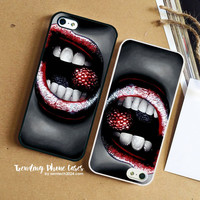 Raspberry Red Lip Fruit iPhone Case Cover for iPhone 6 6 Plus 5s 5 5c 4s 4 Case